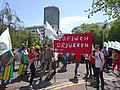 March for Welsh Independence arranged by AUOB Cymru First national march; Wales, Europe 02.jpg