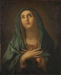 Maria med korslagda armar