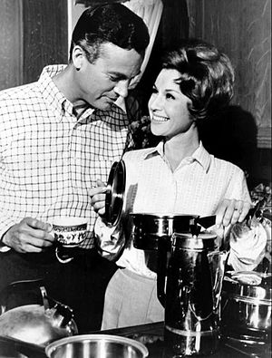 Mark Miller (actor) - Miller and Pat Crowley in Please Don't Eat the Daisies (1966)