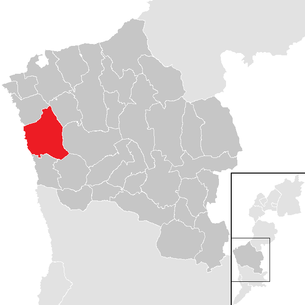 Location of the municipality of Markt Allhau in the Oberwart district (clickable map)