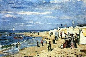 João Marques de Oliveira - Bathing Beach (1884)