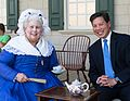 Martha Washington impersonator meets Chris Lu, Mount Vernon, 2016 (4).jpg