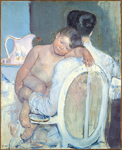 CASSATT Mary Woman Sitting with a Child in Her Arms 1890