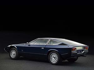 Maserati Khamsin - Rear view of a 1975 Maserati Khamsin.