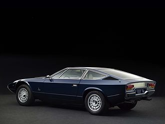 Maserati Khamsin - Rear view of a 1975 Maserati Khamsin.