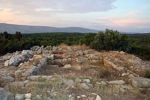 Stari Grad Plain -  The foundations of the ancient Greek watch-tower Maslinovik overlooking the Stari Grad Plain