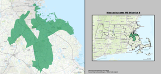 Massachusettss 8th congressional district U.S. House district in suburbs of Boston, MA