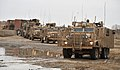 Mastiff and Ridgback Heavily Armoured Patrol Vehicles in Combat Logistic Patrol (CLP) in Afghanistan MOD 45153718.jpg