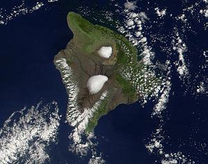 Hawaii aus dem Weltall