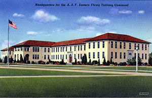 Army Air Forces Eastern Flying Training Command - Postcard photo of the Headquarters, AAF Eastern Flying Training Command at Maxwell Field, Alabama