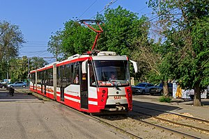Volgograd Metrotram - Image: May 2015 Volgograd img 09 Mamaev Kurgan metrotram station