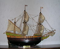 A Mayflower makettje