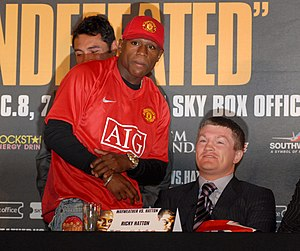 Floyd Mayweather Jr. - Mayweather and Hatton during the press conference leading up to their much anticipated showdown, which would take place on December 8, 2007