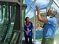 Mazie Hirono and Kim Rogers at Daniel Inouye Lighthouse.jpg