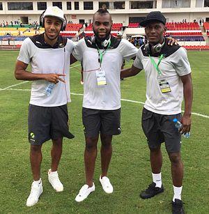 Gilles Mbang Ondo - Gilles Mbang Ondo, Pierre-Emerick Aubameyang and Johann Lengoualama - Gabon