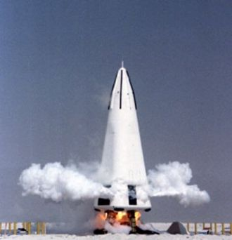 Reusable launch system - McDonnell Douglas DC-X used vertical takeoff and vertical landing