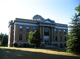 Towner, North Dakota - McHenry County Courthouse in Towner
