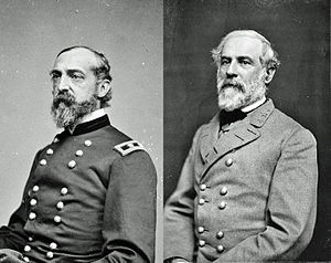 Gettysburg Campaign - Image: Meade and Lee