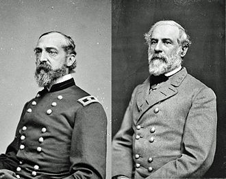 Gettysburg Campaign - Opposing commanders George G. Meade and Robert E. Lee