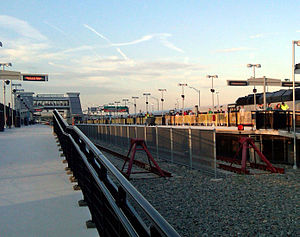 MetLife Stadium - Meadowlands station provides New Jersey Transit rail service to MetLife Stadium on game days