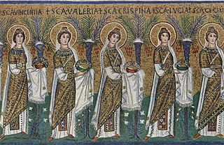Virgin (title) Honorific bestowed on female saints and blesseds in both the Eastern Orthodox Church and the Roman Catholic Church