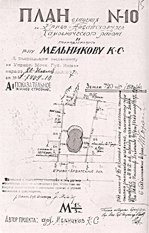 Melnikov house plan 1