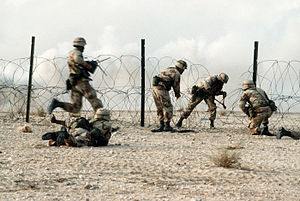 325th Infantry Regiment (United States) - Members of the regiment in a live fire demonstration during Operation Desert Shield.