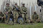 Members of the Royal Australian Air Force listen to a pre-exercise brief during Cope North 17 survival training at Andersen Air Force Base, Guam.jpg