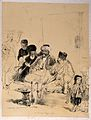 Men and two children sit smoking pipes in a Turkish coffee h Wellcome V0019282.jpg