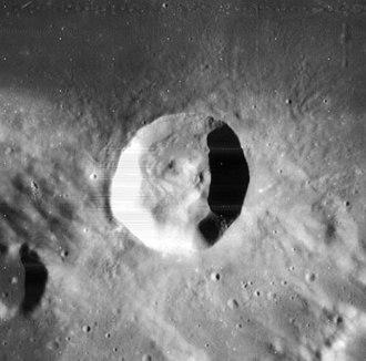 Menelaus (crater) - Lunar Orbiter 4 image