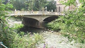 Bridge over the Passer in Merano