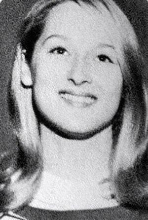 Meryl Streep - Meryl Streep as a senior in high school, 1966