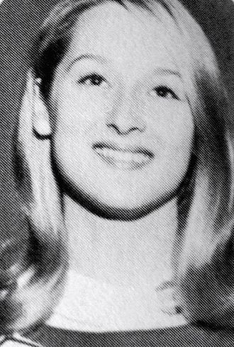 Meryl Streep - Meryl Streep as a senior in high school, 1966