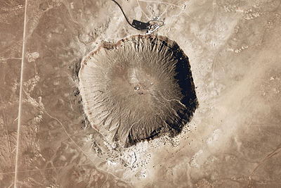 26 June: All large impact craters on Earth have been identified. Meteor Crater - Arizona.jpg