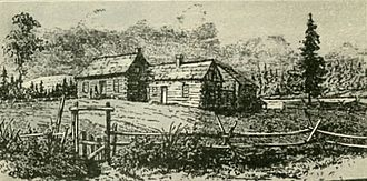 Methodist Mission in Oregon - The Mission Bottom in 1834.
