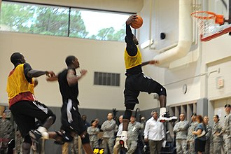 2010–11 Miami Heat season - A Miami Heat practice session at the team's preseason training camp in Hurlburt Field, Florida in late September 2010