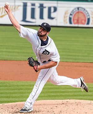 Michael Fulmer - Fulmer pitching for the Detroit Tigers in 2016