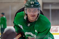Mikael Granlund at Minnesota Wild open practice at Tria Rink in St Paul, MN.jpg