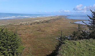 Humboldt Bay - Mike Thompson Wildlife Area is a 4.5 mile-long stretch of beach, dunes and tidal marsh that serves as a popular destination for waterfowl hunting, surf fishing and clamming on the south spit of Humboldt Bay