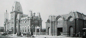 Chicago, Milwaukee, St. Paul and Pacific Depot Freight House and Train Shed - Italianate passenger station