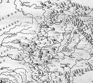 Luigi Ferdinando Marsili - Image: Mining Map of Northern Transylvania in Danubius Pannonico Mysicus 1726 by Marsigli