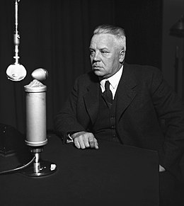 Minister of defence Juho Niukkanen in a studio, 1930s..jpg