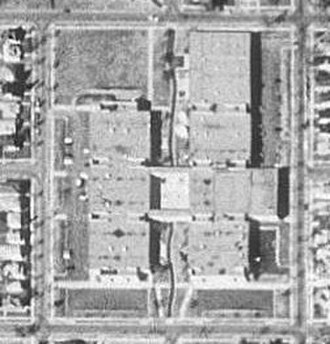 North Community High School - Aerial view of the school