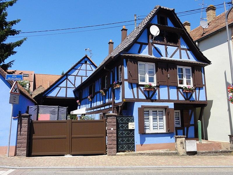 Alsace, Bas-Rhin, Mittelhausbergen, Ferme, 47 rue Principale.