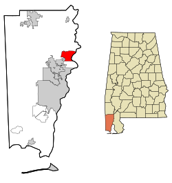 Location in Quận Mobile, Alabama