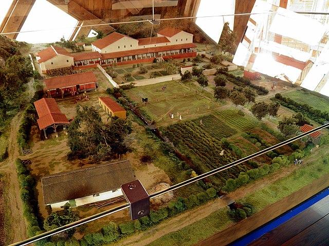 Модель сельской виллы II—III веков н.э. и хозяйства при ней. Арвайлер, Германия