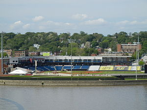 Modern Woodmen Park - Modern Woodmen Park from the Centennial Bridge