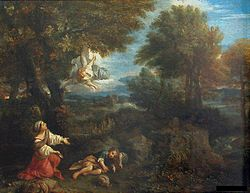 Pier Francesco Mola: Landscape with Hagar and the Angel