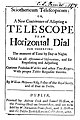 Molyneux, William – Sciothericum telescopicum, or A new contrivance of adapting a telescope to an horizontal dial for observing the moment of time by day or night, 1686 – BEIC 1398605.jpg