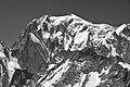 Mont Blanc from Punta Helbronner, 2010 July, bw.JPG